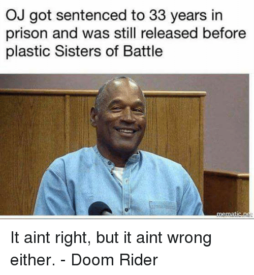 Oj Got Sentenced To 33 Years In Prison And Was Still Released Before