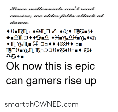 Epic, Com, and Can: Ok now this is epic  can gamers rise up smartphOWNED.com