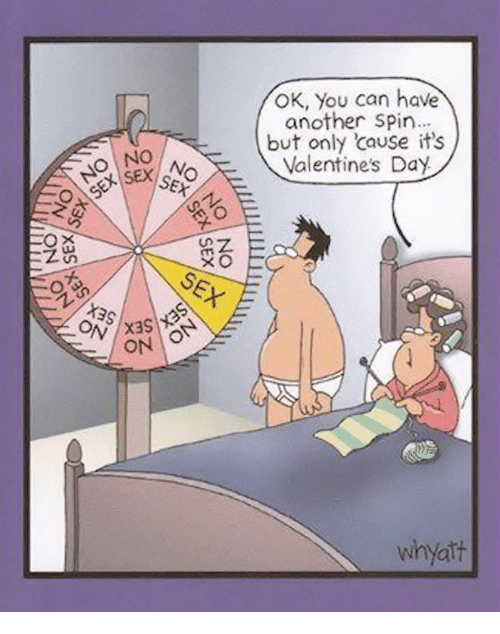 Valentine's Day, Another, and Can: OK, You can have  another Spin  but only cause it's  Valentine's Day  No  nz  ON  whyatt