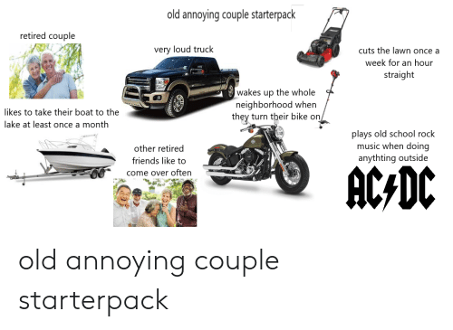 Old Annoying Couple Starterpack Retired Couple Very Loud