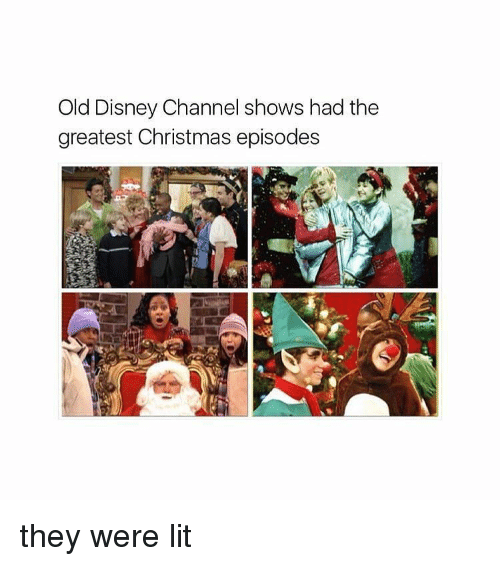 disney lit and disney channel old disney channel shows had the greatest christmas - Disney Channel Christmas