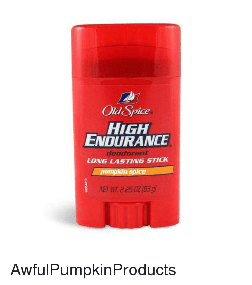 Old Spice HIGH ENDURANCE Deodorant LONG LASTING STICK Pumpkin Spice