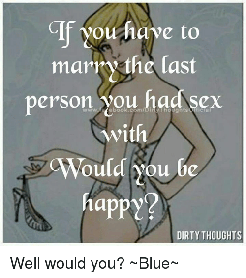 Dirty sex thoughts