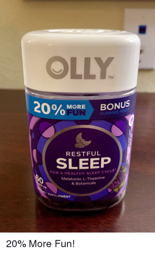 Olly Tm More Bonus Fun Gummies Insid Restful Sleep For A Healthy