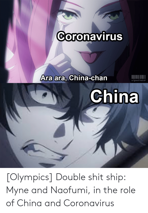Olympics Double Shit Ship Myne And Naofumi In The Role Of China