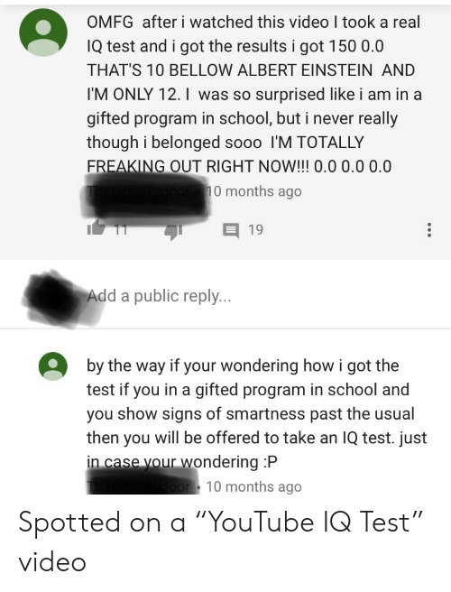 OMFG After I Watched This Video I Took a Real IQ Test and I