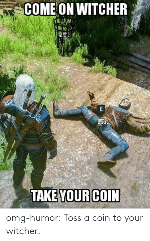 Omg, Tumblr, and Blog: omg-humor:  Toss a coin to your witcher!