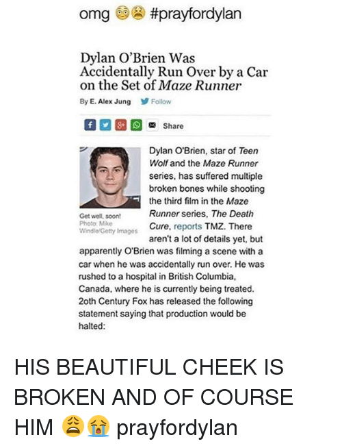 omg prayfordylan dylan obrien was accidentally run over by a 1677250 ✅ 25 best memes about the maze runner the maze runner memes,Funny Maze Runner Memes