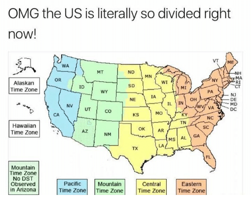 Omg The Us Is Literally So Divided Right Now Me Wa Mt Nd Nh Mn Ma