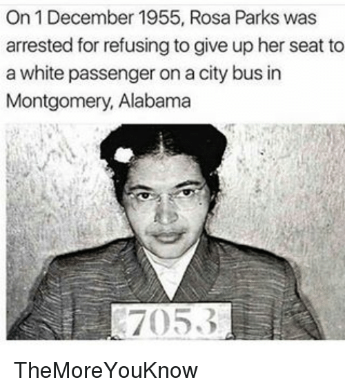 on 1 december 1955 rosa parks was arrested for refusing 7778468 on 1 december 1955 rosa parks was arrested for refusing to give up