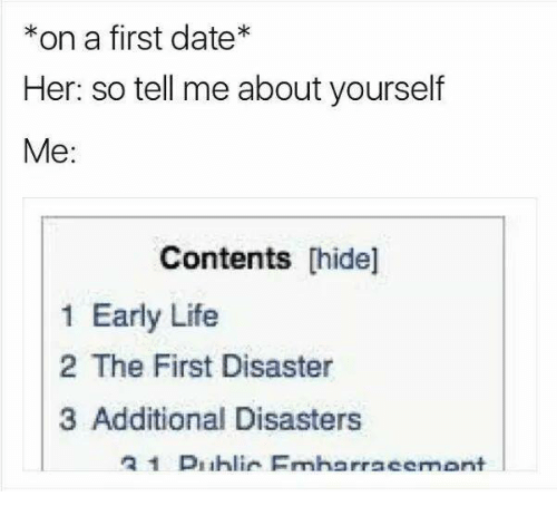 Tell me about yourself dating questions