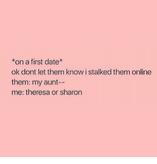 First date online dating