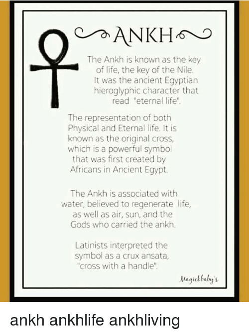 On Ankh The Ankh Is Known As The Key Of Life The Key Of The Nile It