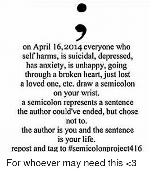 Memes Lost And Anxiety On April 162014 Cveryone Who Self Harms