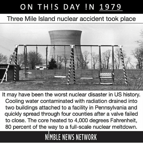 On TH S DAY IN 1979 Three Mile Island Nuclear Accident Took