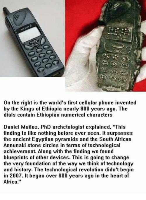 On the Right Is the World's First Cellular Phone Invented by