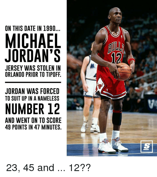 size 40 7ffaa 9e87c On THIS DATE IN 1990 MICHAEL JORDAN'S JERSEY WAS STOLEN IN ...
