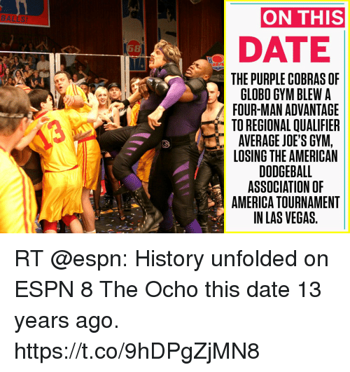 On THIS DATE THE PURPLE COBRAS OF GLOBO GYM BLEW a FOUR-MAN