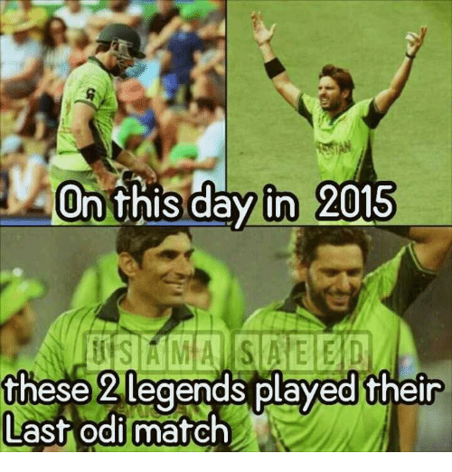 Memes, 🤖, and On This Day: On this day in 2015  these 2 legends played their  Last odi match