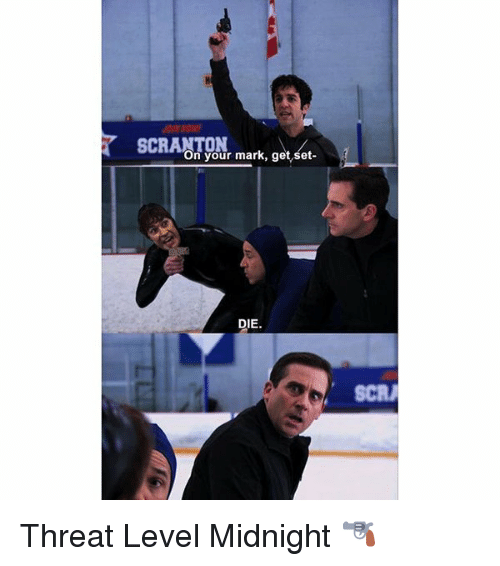 Memes, 🤖, and Midnight: on your mark, get set  DIE.  SCRA Threat Level Midnight 🔫