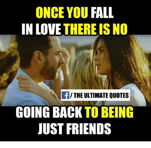 Once You Fall In Love There Is No The Ultimate Quotes Going Back To