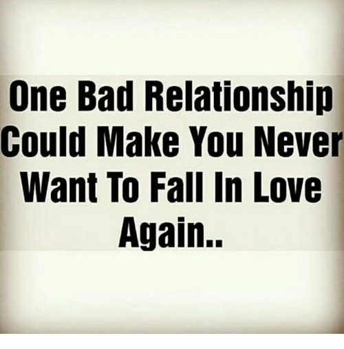 never want to fall in love again
