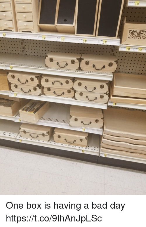 Bad, Bad Day, and Faces-In-Things: One box is having a bad day https://t.co/9lhAnJpLSc