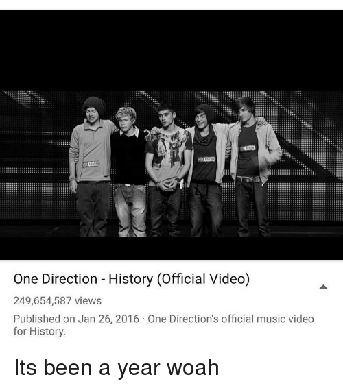 Memes, One Direction, and Music Video One Direction History (Official  Video)