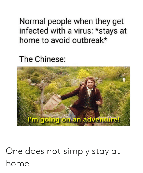 Image result for stay home chinese vacation meme