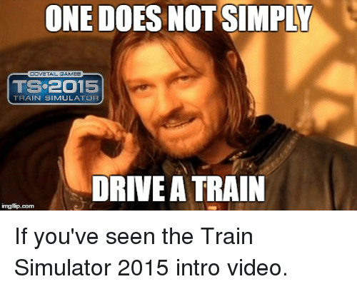 how to drive a train video
