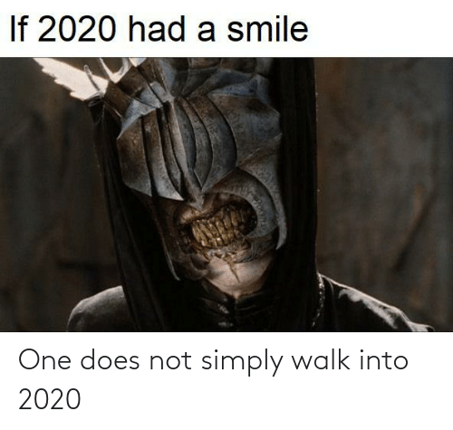 Lord of the Rings, One, and One Does Not Simply: One does not simply walk into 2020