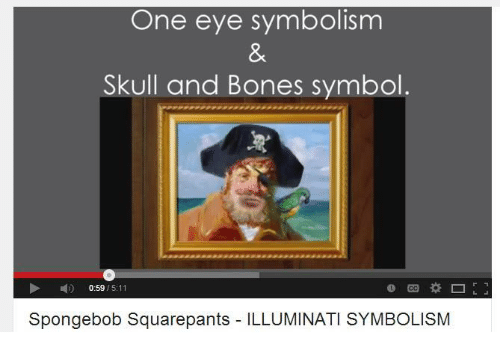 One Eye Symbolism Skull And Bones Symbol 059 511 Spongebob