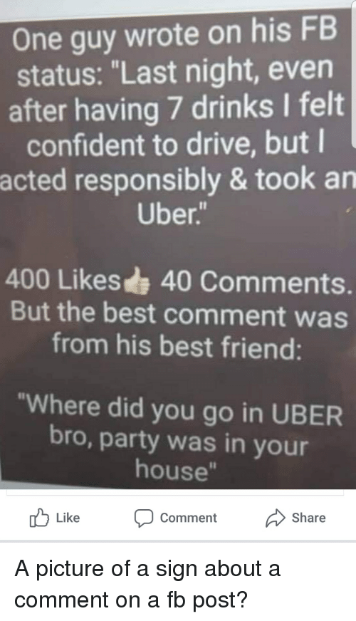 One Guy Wrote On His Fb Status Last Night Even After Having 7 Drinks