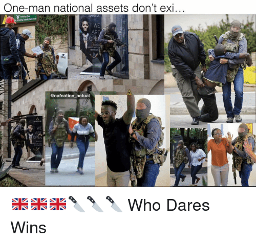 Memes, Smoking, and 🤖: One-man national assets don't exi..  Smoking Zone  Smoking Outside the Cubide  WE  AR  OP  @oafnation actual  WE 🇬🇧🇬🇧🇬🇧🔪🔪🔪 Who Dares Wins