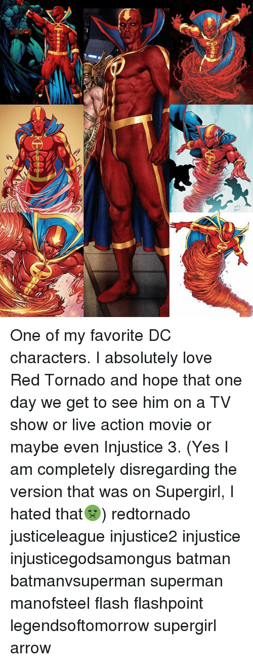 Batman, Love, and Memes: One of my favorite DC characters. I absolutely love Red Tornado and hope that one day we get to see him on a TV show or live action movie or maybe even Injustice 3. (Yes I am completely disregarding the version that was on Supergirl, I hated that🤢) redtornado justiceleague injustice2 injustice injusticegodsamongus batman batmanvsuperman superman manofsteel flash flashpoint legendsoftomorrow supergirl arrow