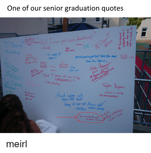 One of Our Senior Graduation Quotes Ever Get Econ Feed Bac ...