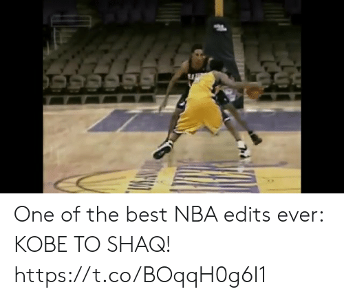 Memes, Nba, and Shaq: One of the best NBA edits ever: KOBE TO SHAQ!   https://t.co/BOqqH0g6I1