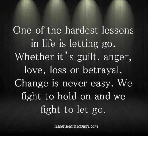 the hardest part of love is letting go