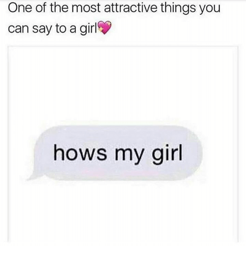 Attractive things in a girl