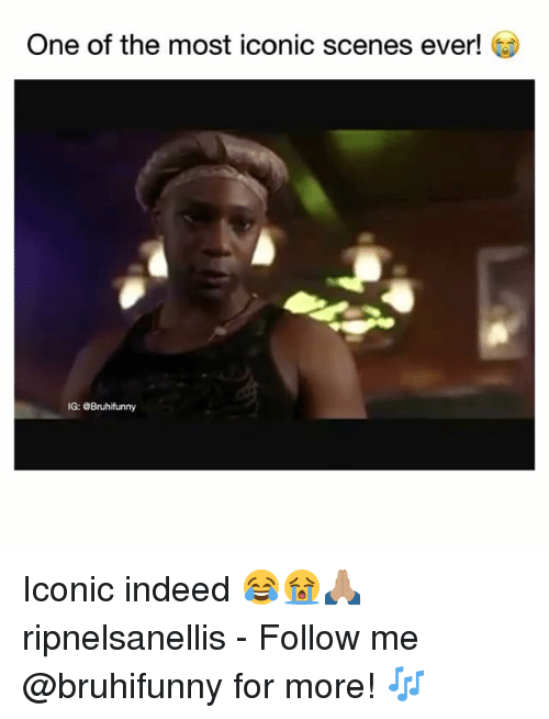 Memes, Indeed, and Iconic: One of the most iconic scenes ever! ^  IG: @Bruhifunny Iconic indeed 😂😭🙏🏽 ripnelsanellis - Follow me @bruhifunny for more! 🎶