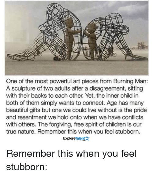 one of the most powerful art pieces from burning man a sculpture of