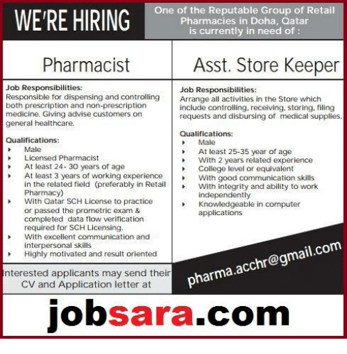 One of the Reputable Group of Retail WERE HIRING Pharmacies