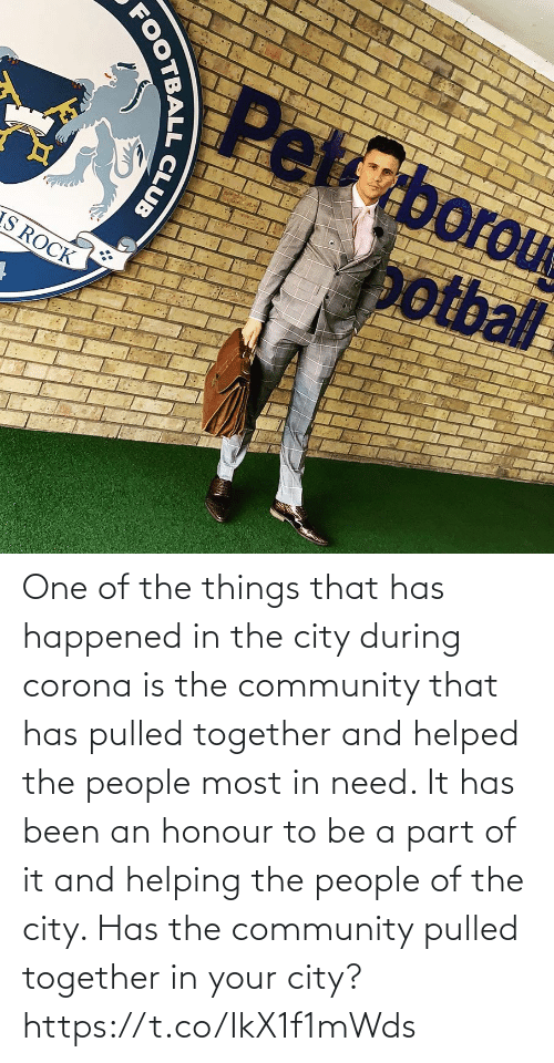 Community, Memes, and Been: One of the things that has happened in the city during corona is the community that has pulled together and helped the people most in need. It has been an honour to be a part of it and helping the people of the city.   Has the community pulled together in your city? https://t.co/IkX1f1mWds