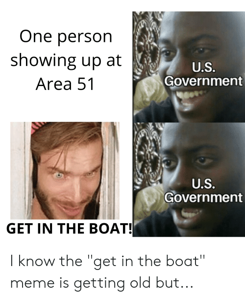 """Meme, Old, and Government: One person  showing up at