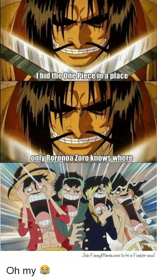 One Piece Only Roronoa Zoro Knows Where Join Funuflamacom To Be A