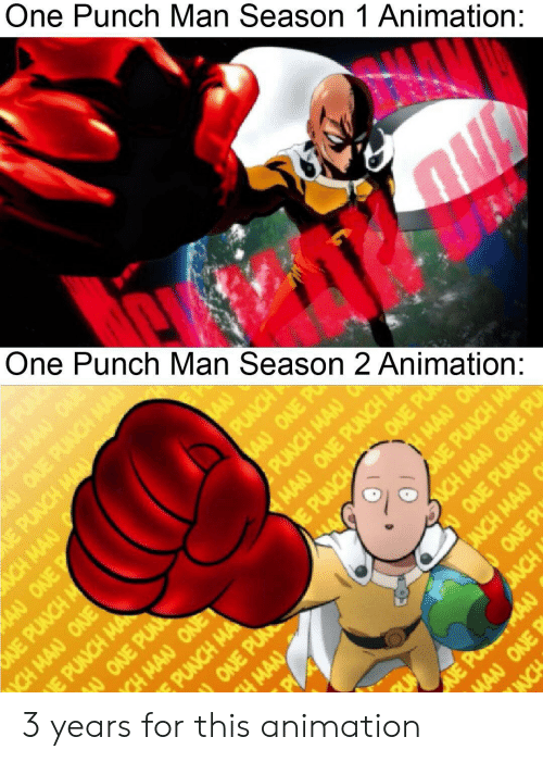 One Punch Man Season 1 Animation One Punch Man Season 2 Animation 3