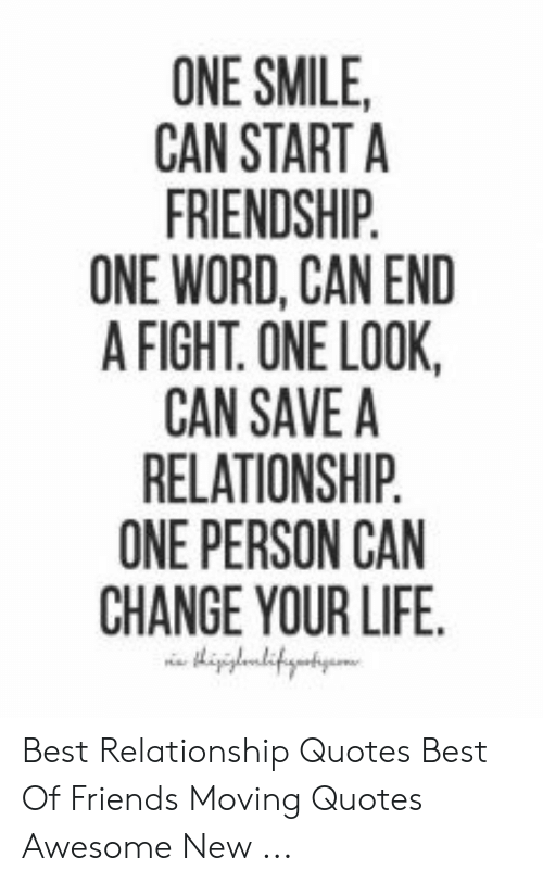 ONE SMILE CAN START a FRIENDSHIP ONE WORD CAN END a FIGHT ...