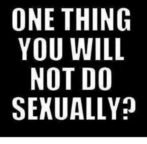 Would you do me sexually