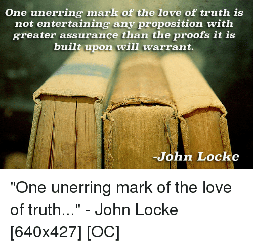 One Unerring Mark of the Love of Truth Is Not Entertaining