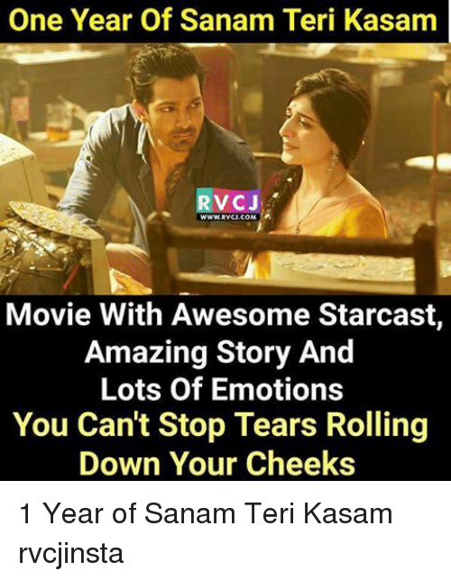 One Year of Sanam Teri Kasam RVCJ Movie With Awesome Starcast